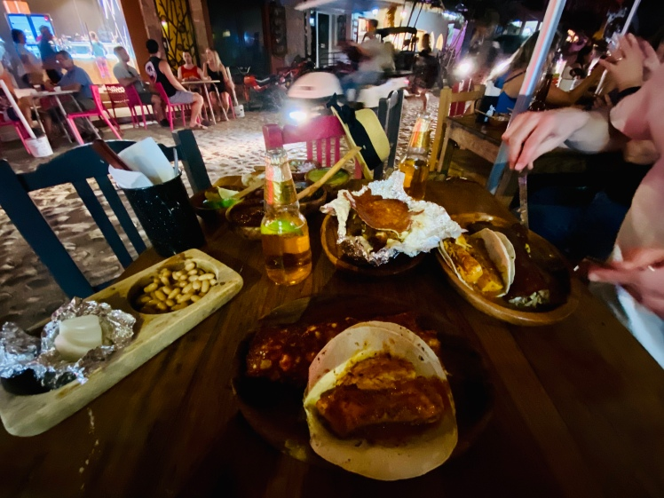 Street dinner Mexico