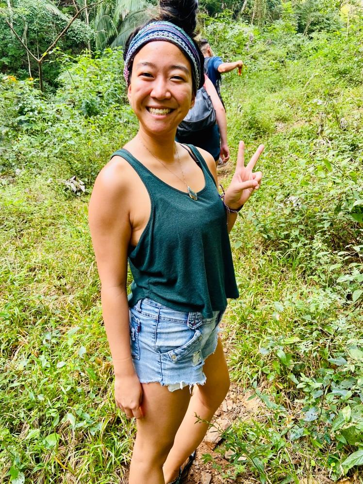 Hiker girl in jungle