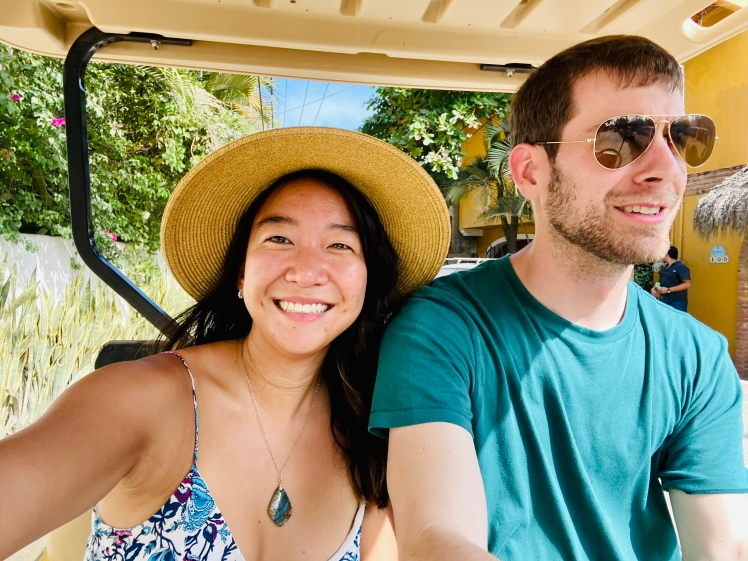 Golf cart driving