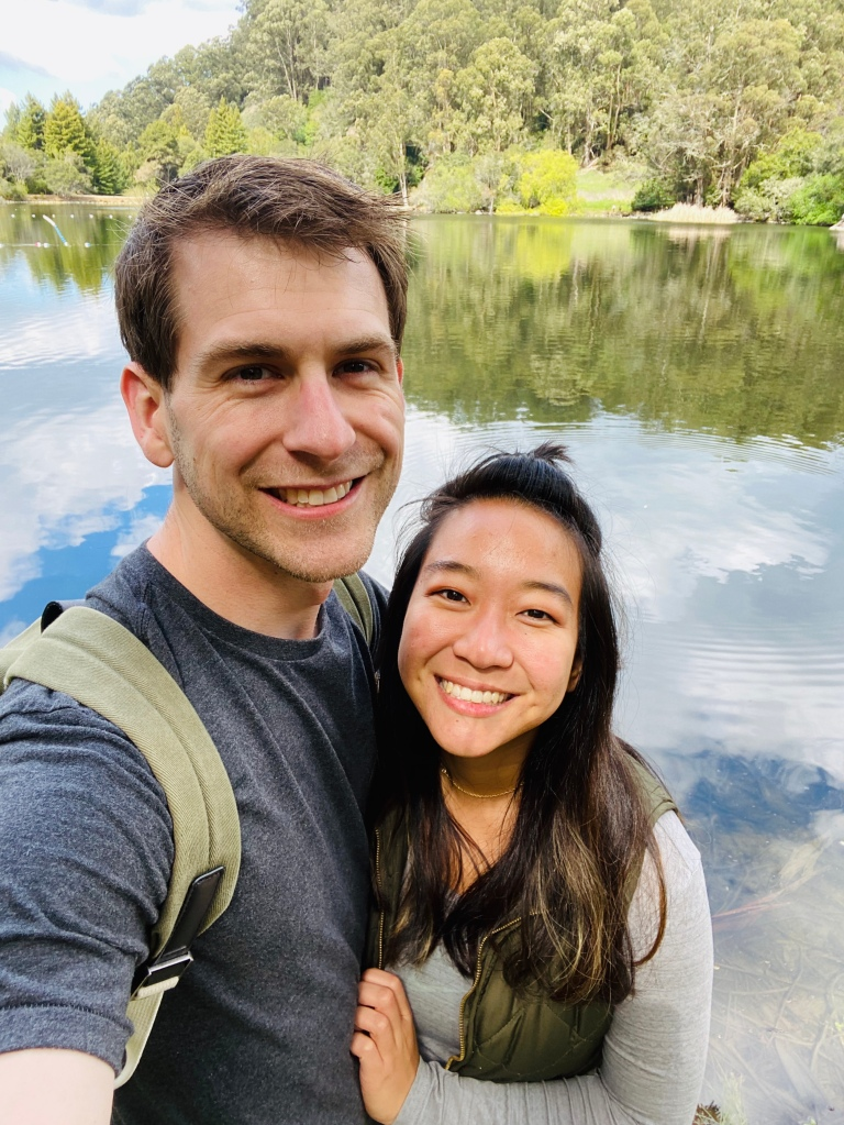 Couple hiking in berkeley