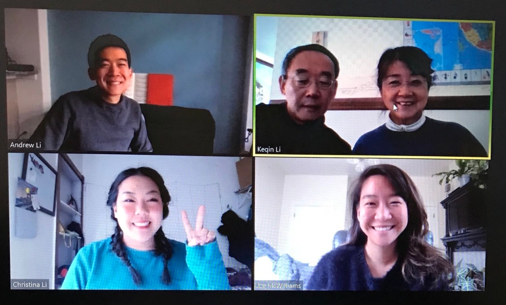 Family chat on zoom