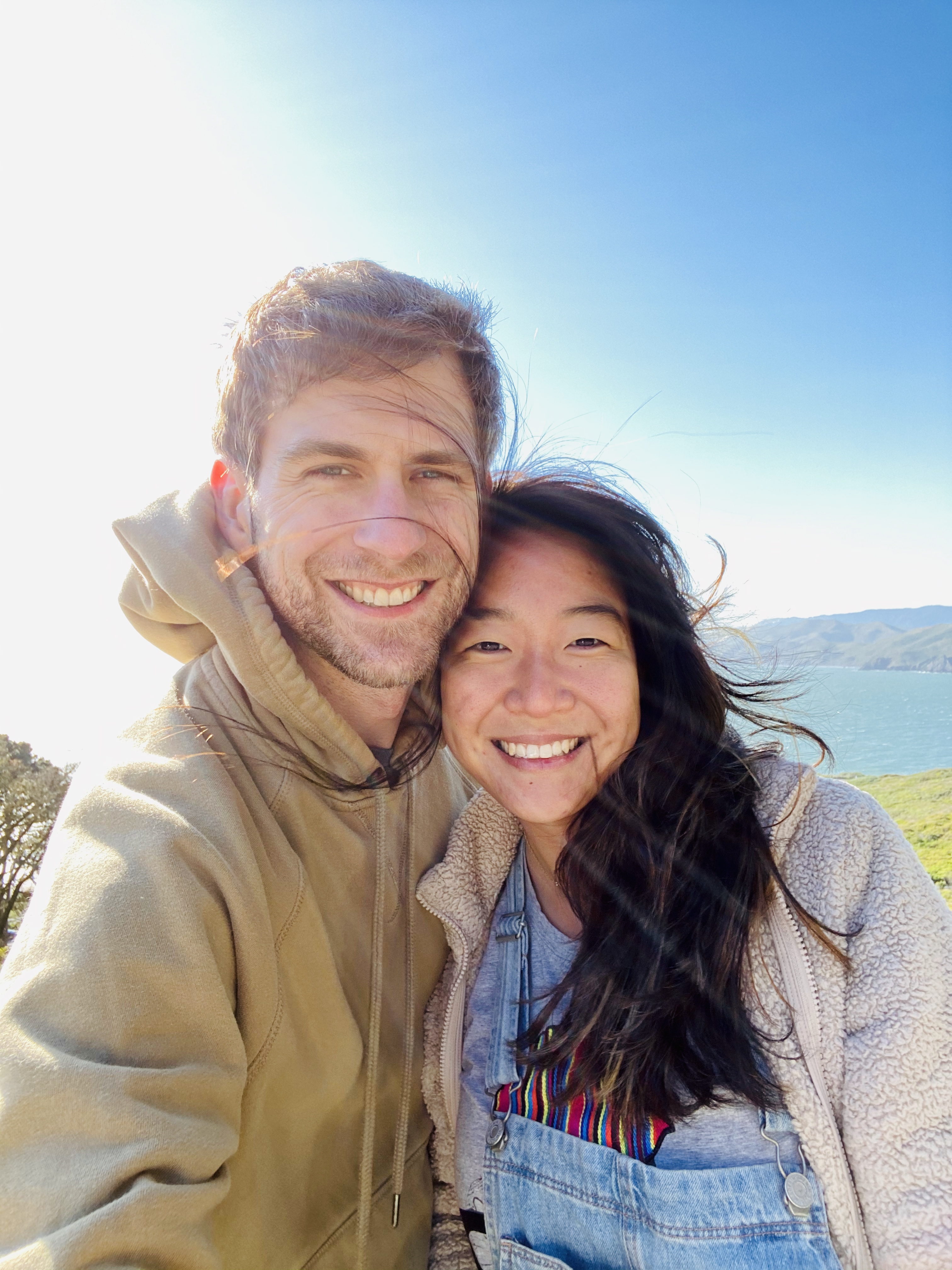 couples hike in SF