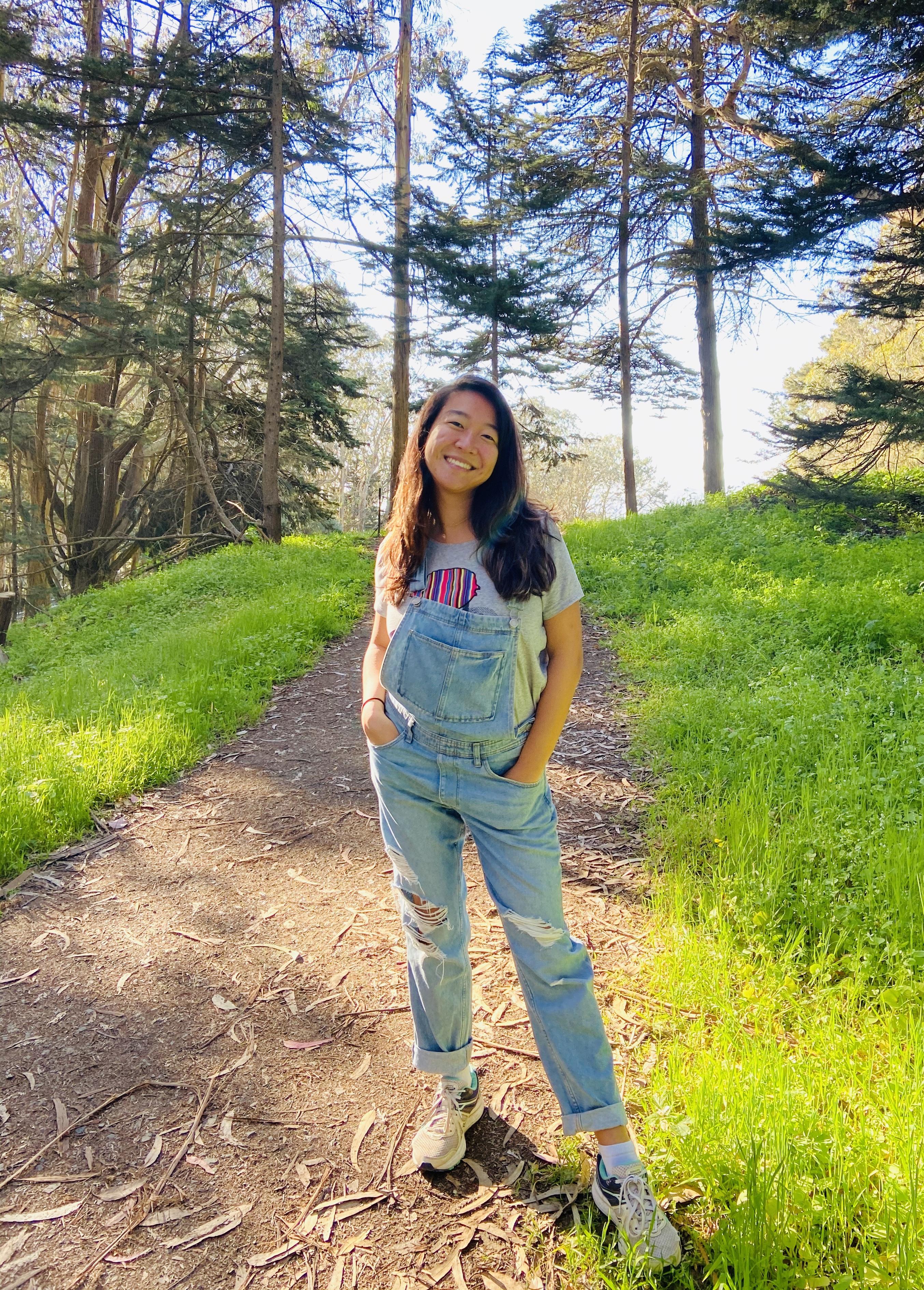 Hiking in the presidio