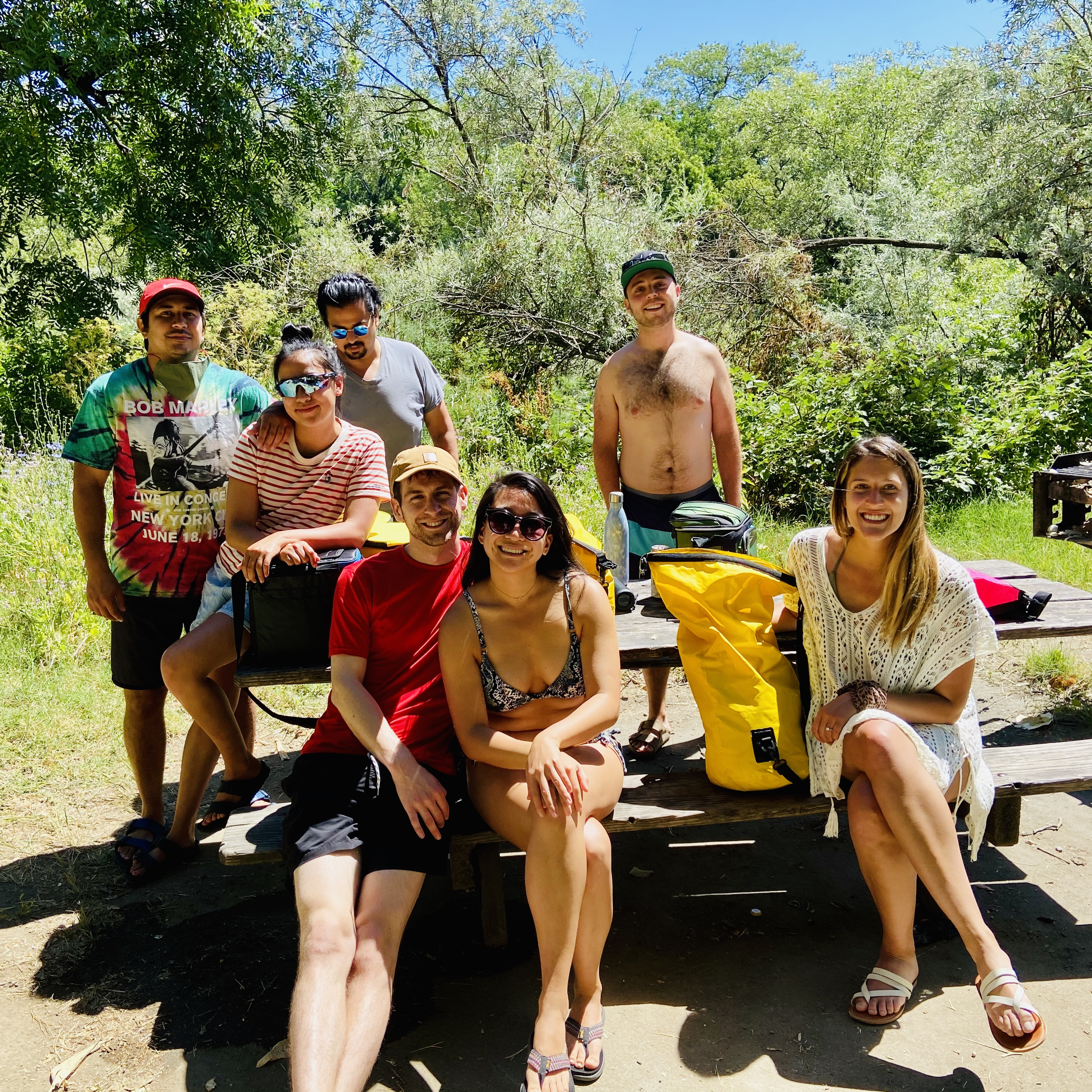 Friends at picnic at Russian RIver