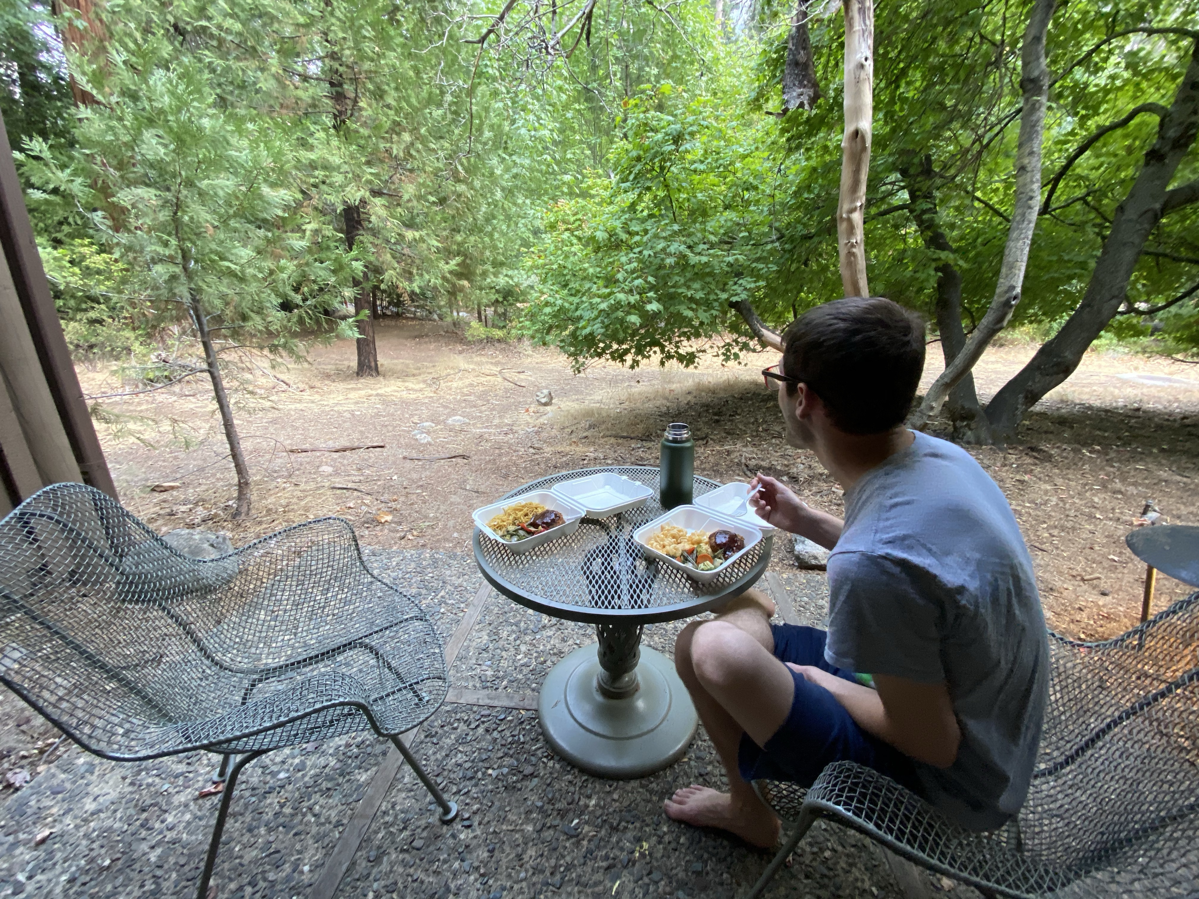 dinner in the woods
