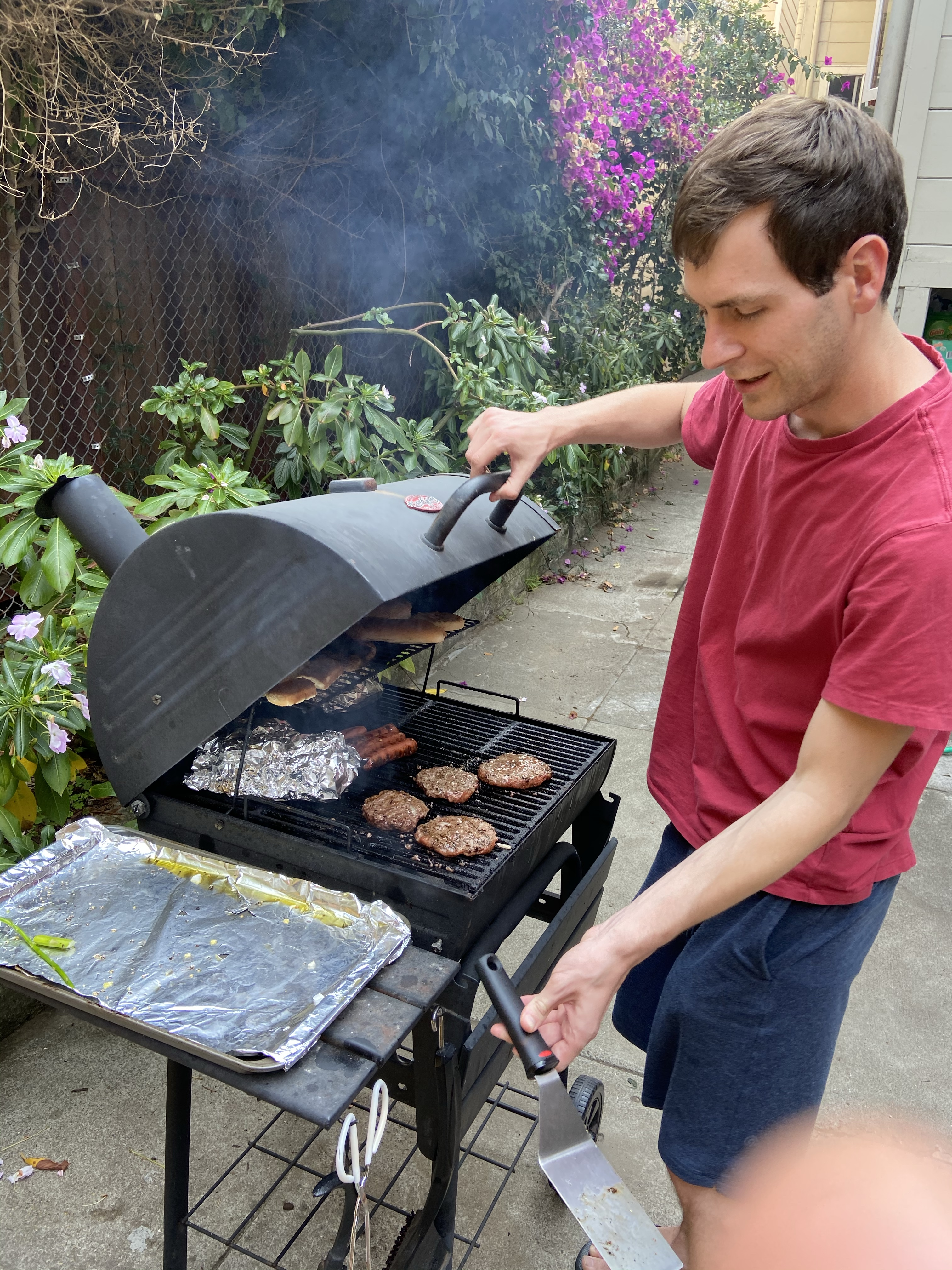 grilling at home