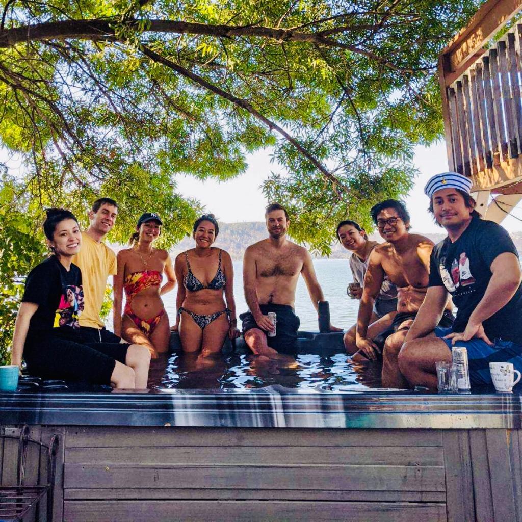 Hot tub crew