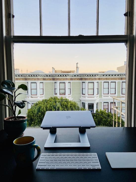 Sunrise views in Haight apartment SF