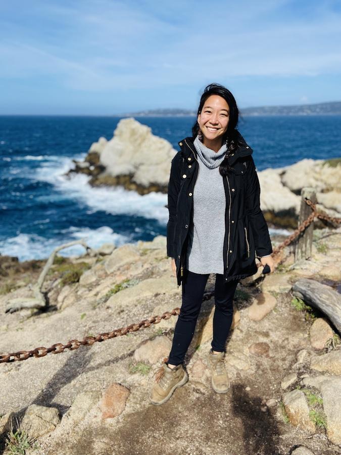 Winter hiking on California coast