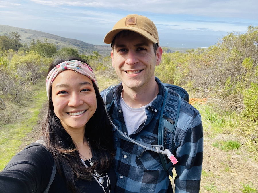 Couple selfie at Andrew Molera State Park