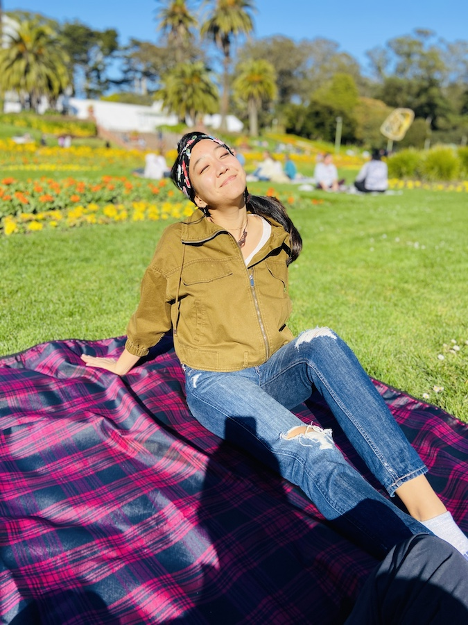 Sun bathing conservatory of flowers SF