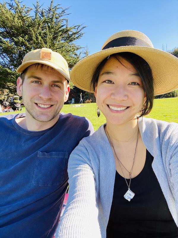 Couple selfie at SF park