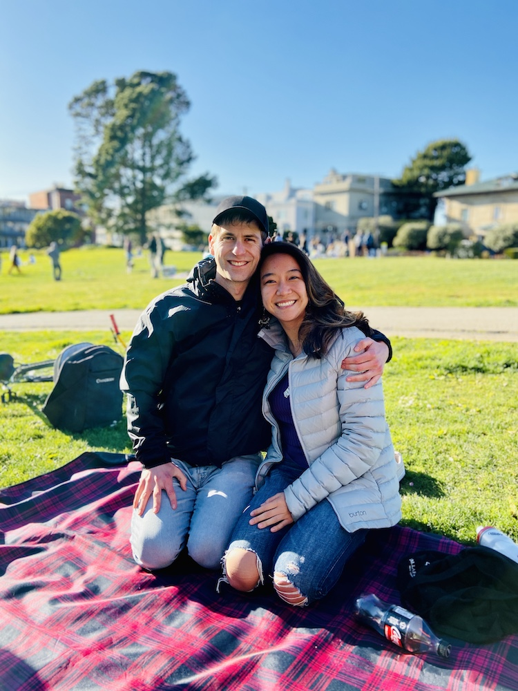 Couple photo at San Francisco park