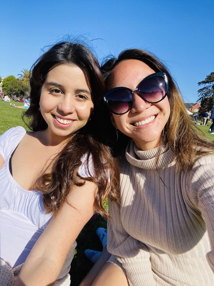 Friend selfie at Dolores Park