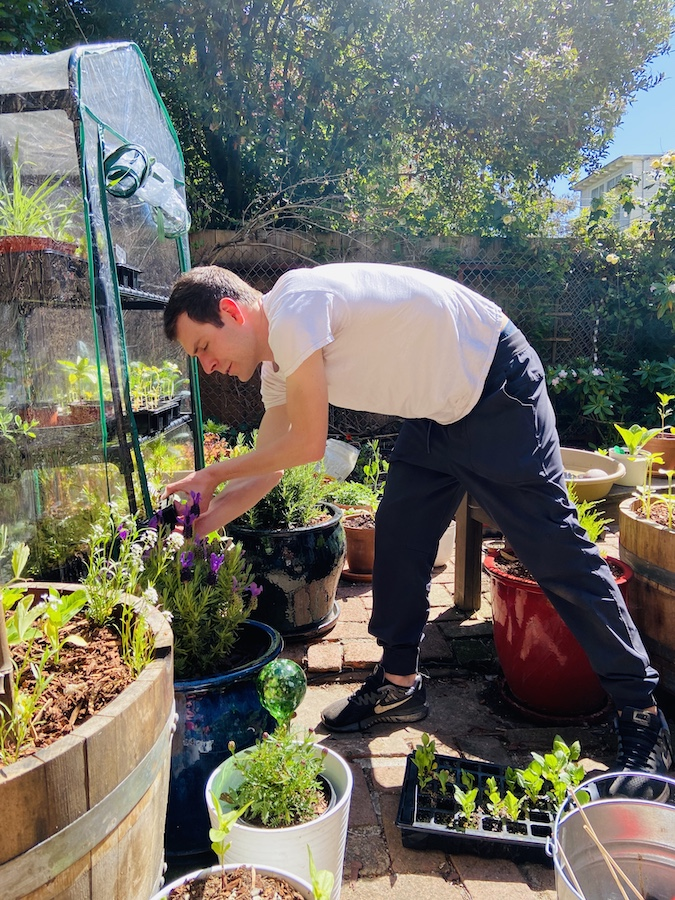 Boyfriend gardening