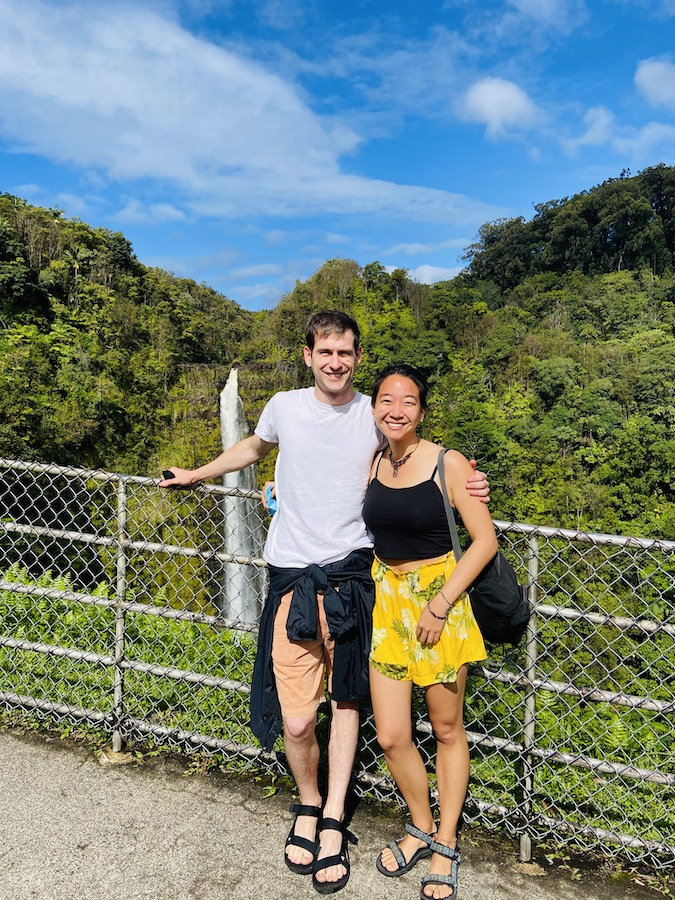Couple and Akaka Waterfall