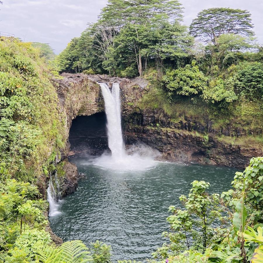 Rainbow Waterfall on Big Island