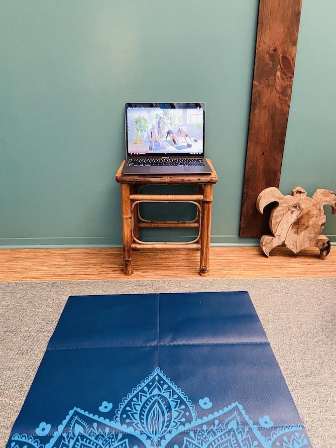 yoga in yurt