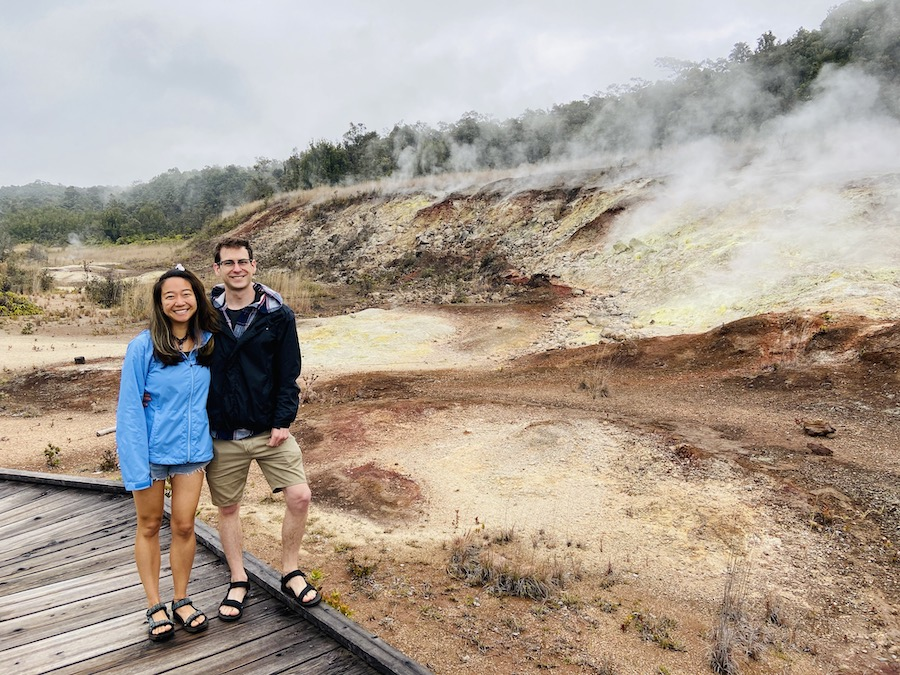 Sulfur banks at Hawaii Volcano National Park