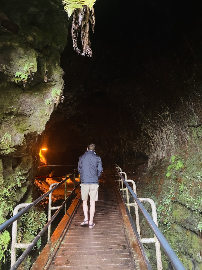 Lava tube in Hawaii Volcano National Park