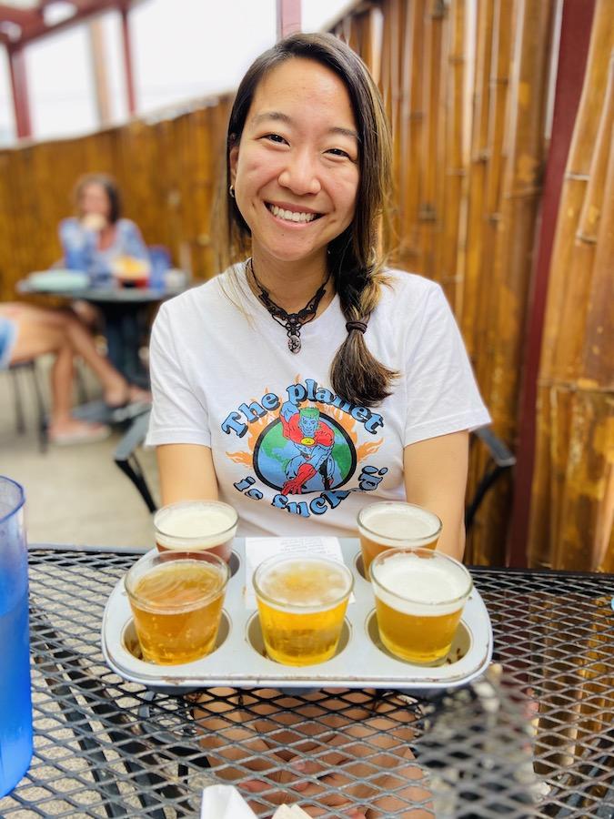 Big Island Brewhaus beer flight