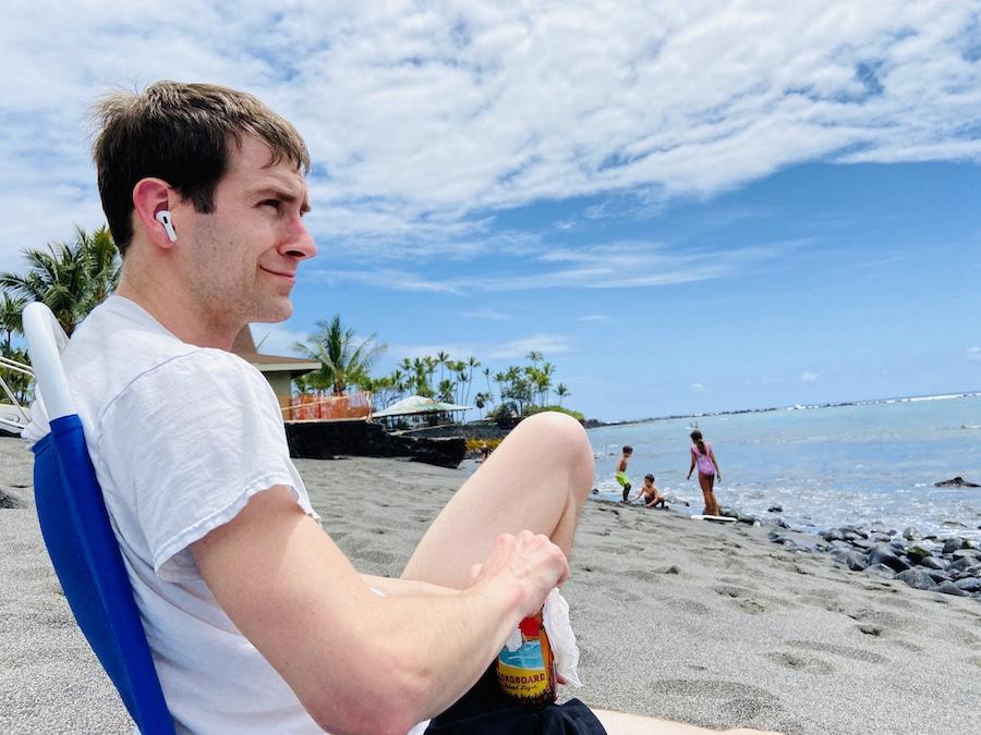 Chilling on Kahalu'u Beach