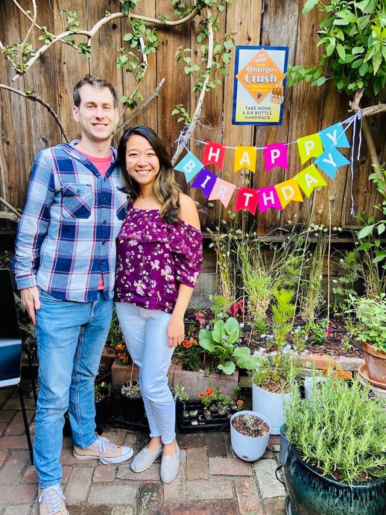Birthday party in garden