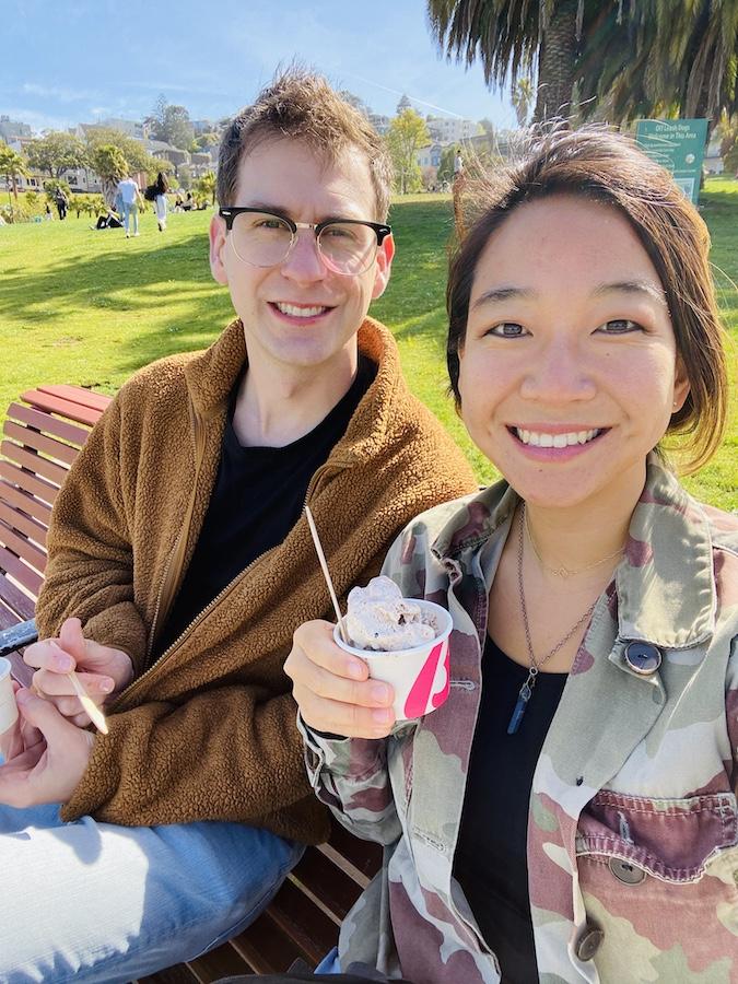Ice cream from bi-rite at dolores park