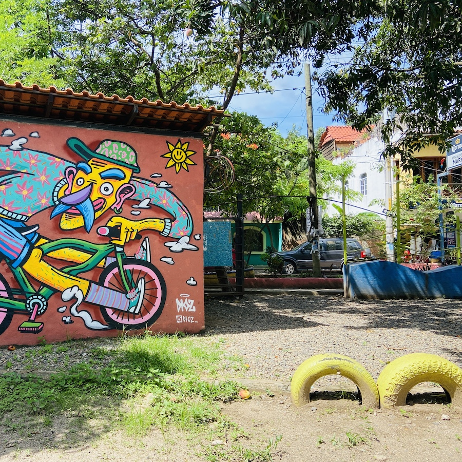 Playground at community center in San Pancho