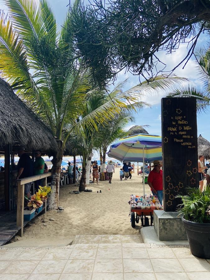 Entrance to San Pancho beach