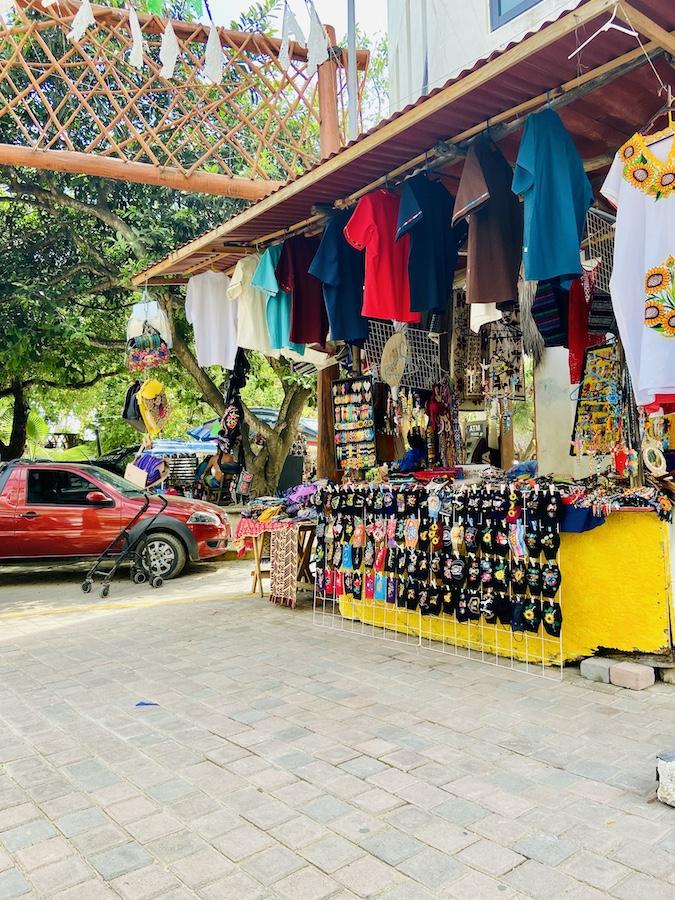 Shopping by the beach in San Pancho