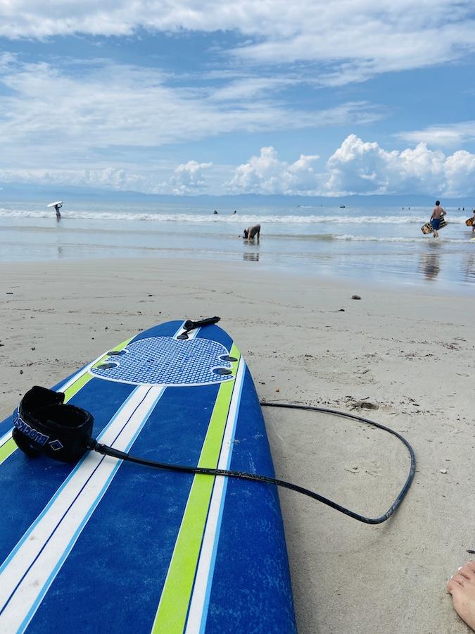 Surf board at Stinky's in Punta Mita