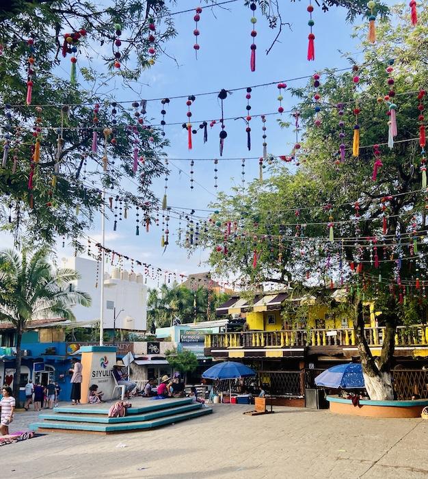 Colorful plaza in Sayulita