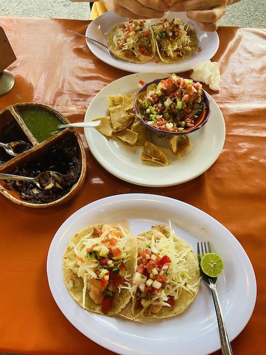 Tacos in local restaurant in Sayulita