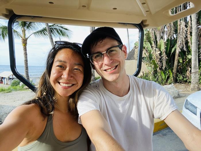 Joy ride selfie with golf cart