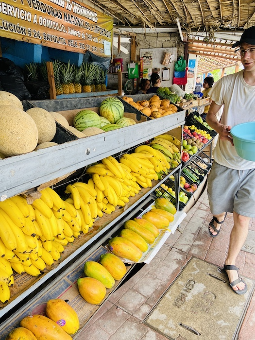 Fruit stand in Sayulita