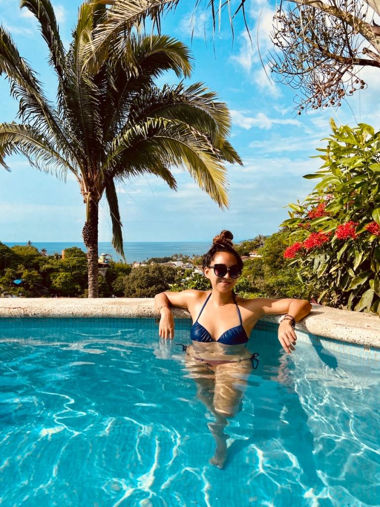 Pool with views of Sayulita