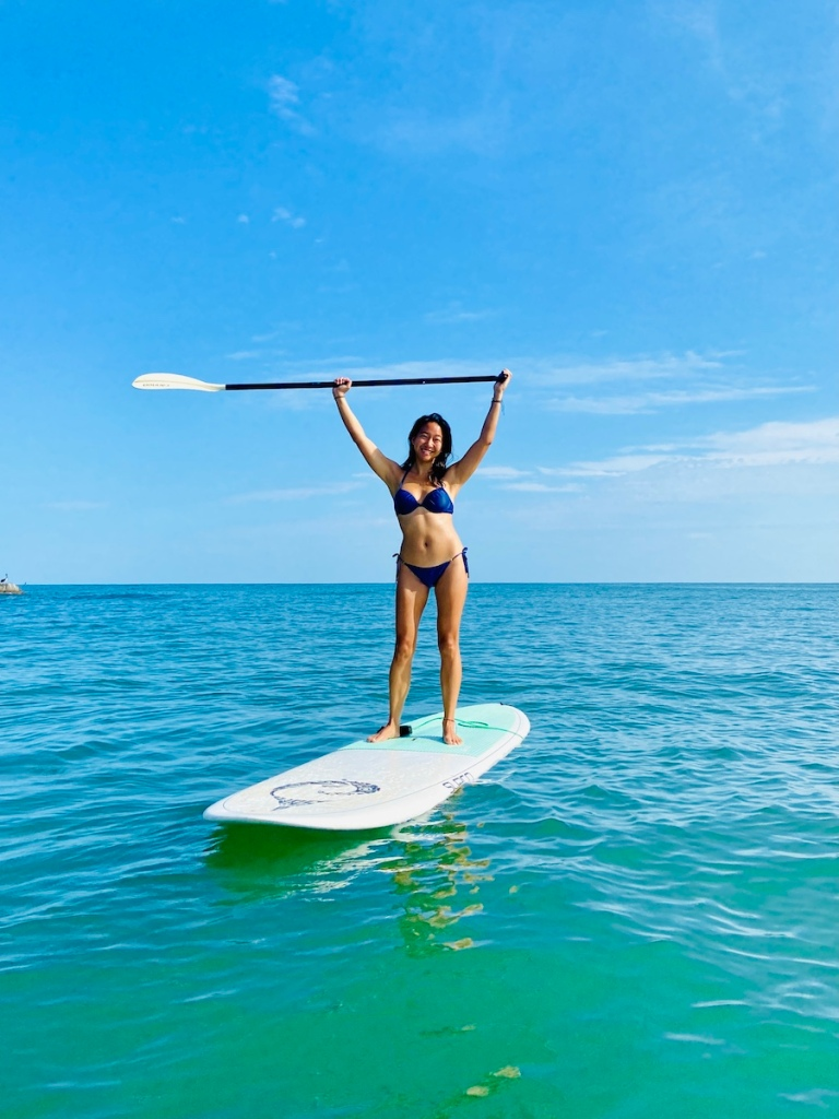 Stand up paddle boarding in Sayulita