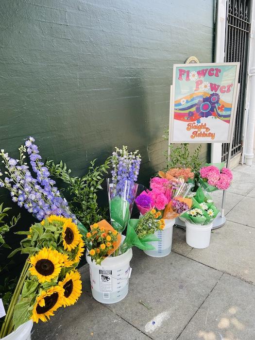 Flowers on Haight street