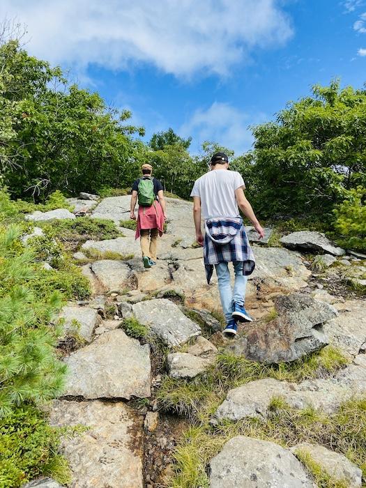 Hiking up Mount Battie