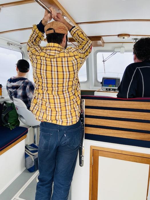 Inside boat cabin